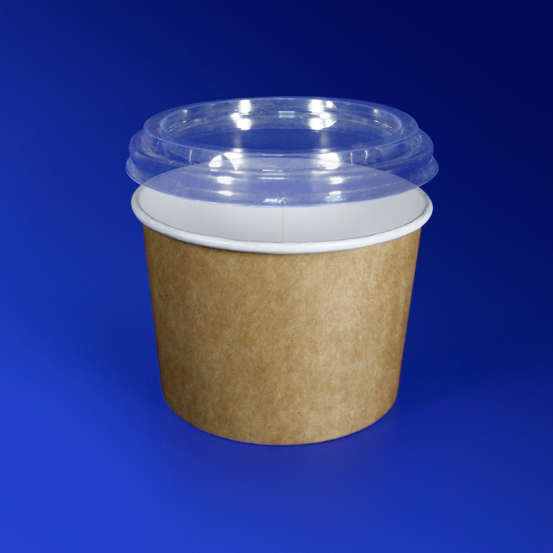 Креманка бумажная 250мл Крафт для горячего