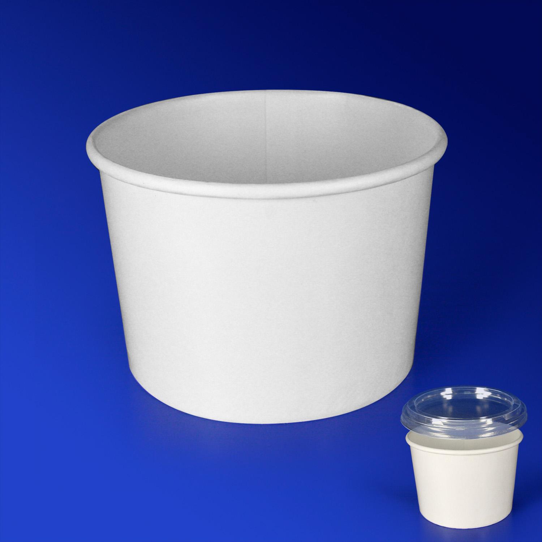 Креманка бумажная 250мл белая для горячего