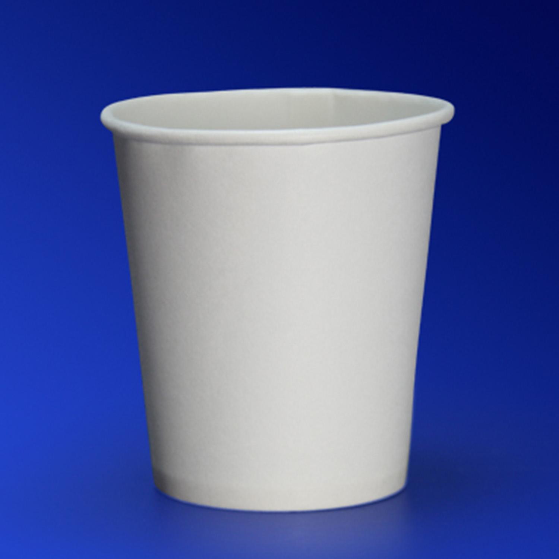 Стакан бумажный 185мл для горячих напитков белый  60 шт/уп