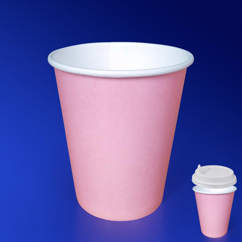 Стакан бумажный 250мл для горячих напитков пудра  50 шт/уп