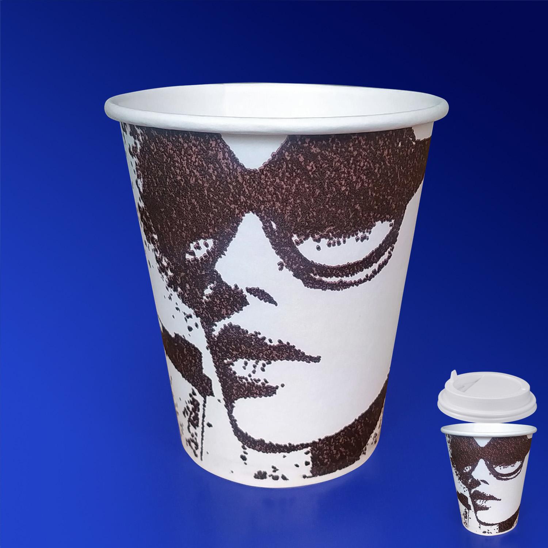 Стакан бумажный 250мл для горячих напитков Силуэты  50 шт/уп