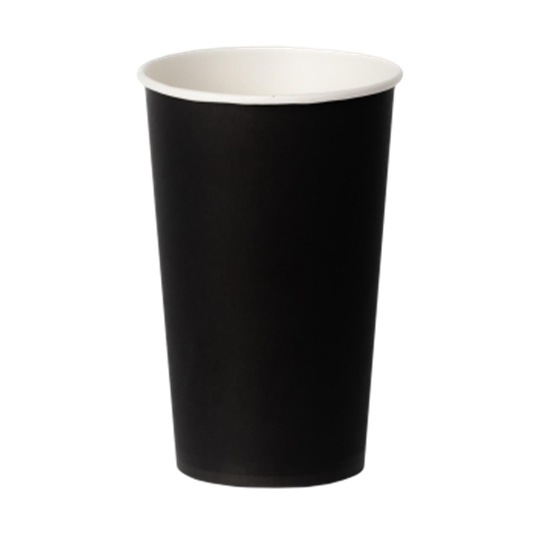 Стакан бумажный 400мл для горячих напитков черный  50 шт/уп
