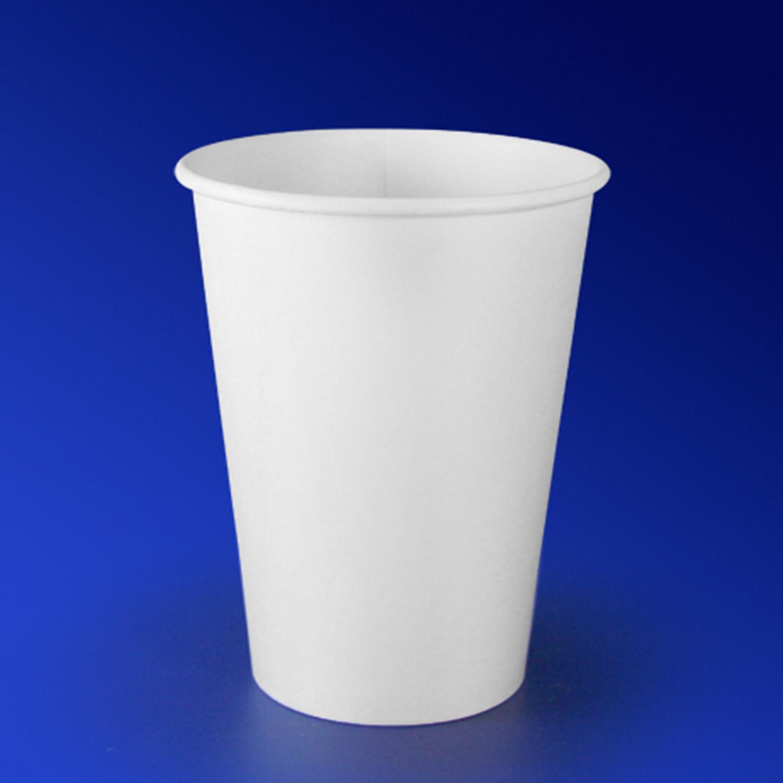 Стакан бумажный 350мл для горячих напитков белый  50 шт/уп