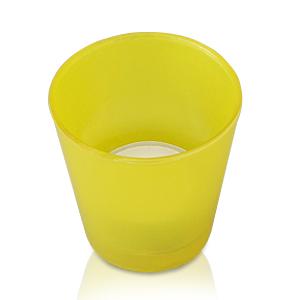 Свечи чайные в желтом стеклянном подсвечнике d6,4 h6,5