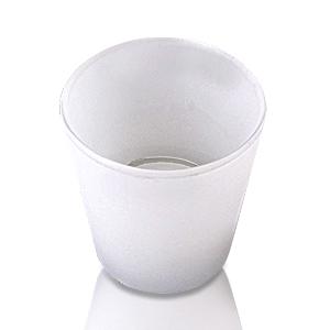 Свечи чайные в белом стеклянном подсвечнике  d6,4 h6,5