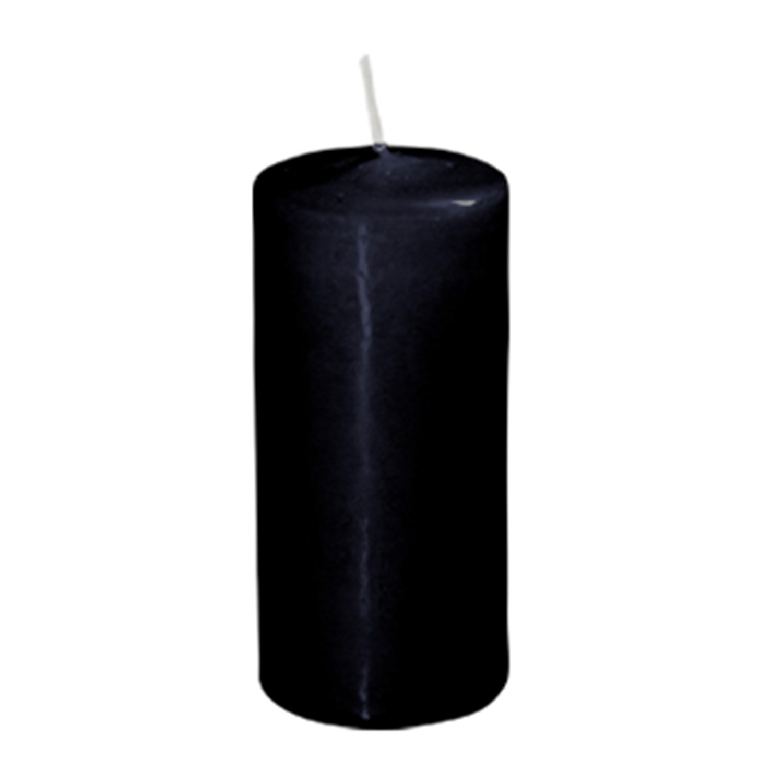 Свеча d4,0х9,0см  пеньковая черная