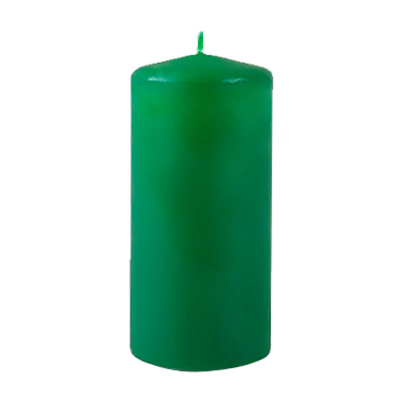 Свеча d4,0х9,0см  пеньковая темно-зеленая