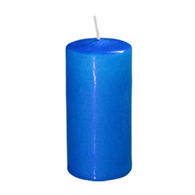 Свеча d4,0х9,0см  пеньковая синяя