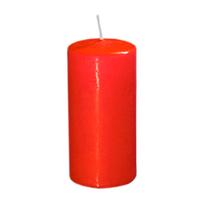 Свеча d4,0х9,0см  пеньковая красная
