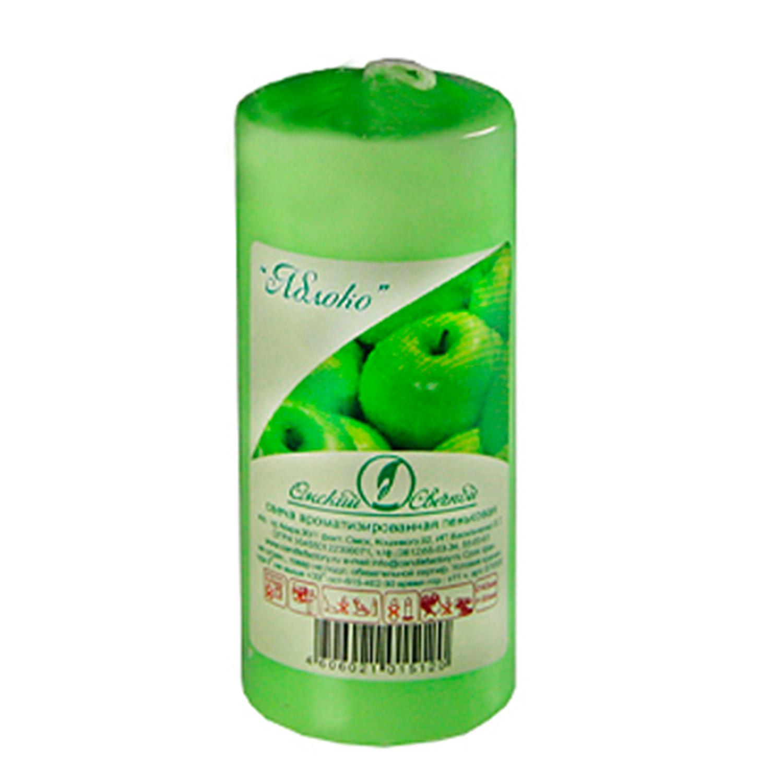 Свечи d 5,0х11,5см  пеньковые ароматизированные Яблоко