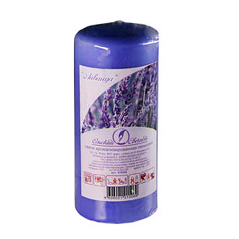 Свечи d 5,0х11,5см  пеньковые ароматизированные Лаванда