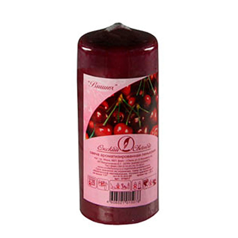 Свечи d 5,0х11,5см  пеньковые ароматизированные Вишня