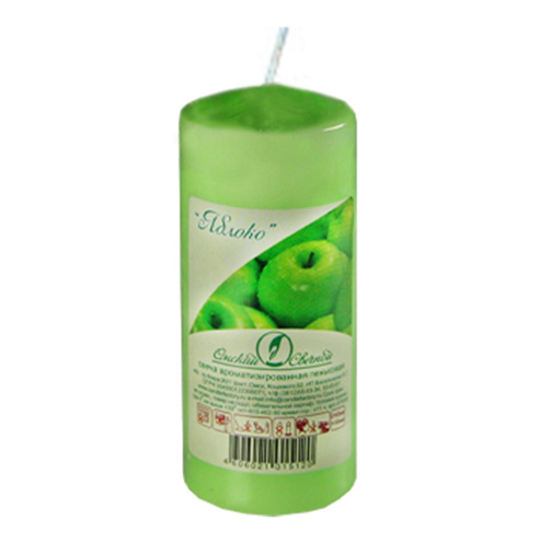 Свечи d 4,0х9,0 см  пеньковые ароматизированные Яблоко
