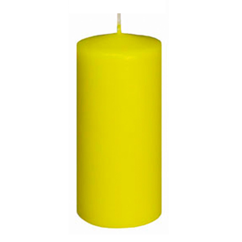 Свечи d 6,0х12,5см  пеньковые желтая