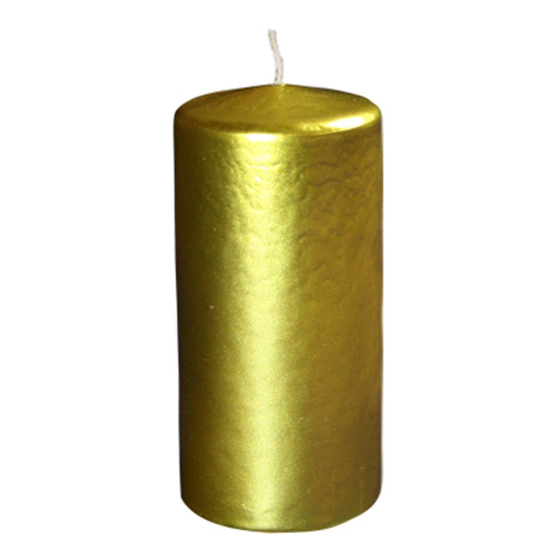 Свечи d 6,0х12,5см  пеньковые золотые