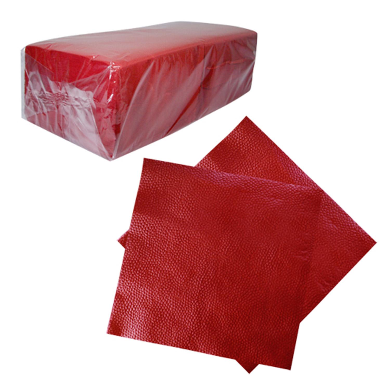 Салфетки  красные 33х33см 1 сл 200 шт/уп