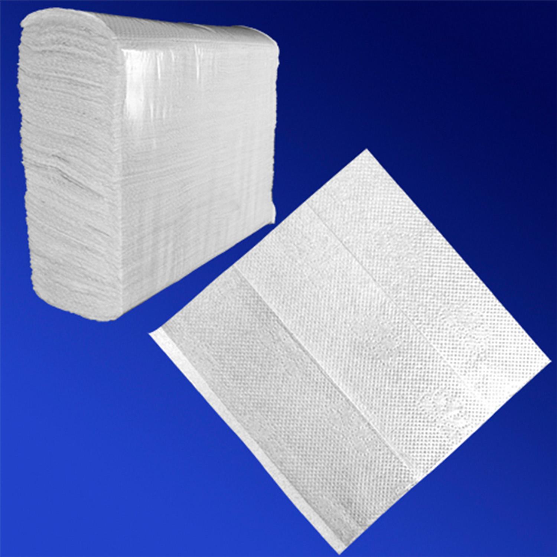Полотенце Z-сложение 2сл 24х21,6см белое 200шт/уп марка Оптиком