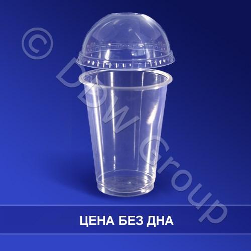 Крышка к стаканам d8,5см КУПОЛ прозрачная  к OP197097  100 штук в упаковке