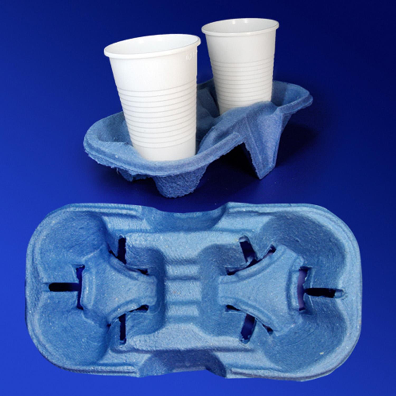 Держатель для стаканов 180-350мл на 2шт синий 216х113х45мм 110шт/уп