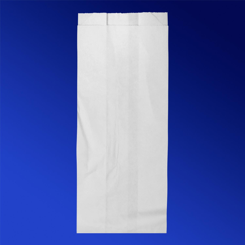 Пакет бумажный  26х10х6 5см белый для выпечки 1,5кг  1000шт/уп