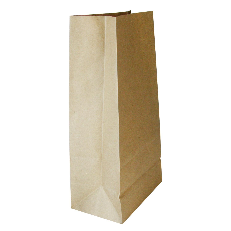 Пакет бумажный  24х12х8см коричневый для выпечки 1000шт/уп