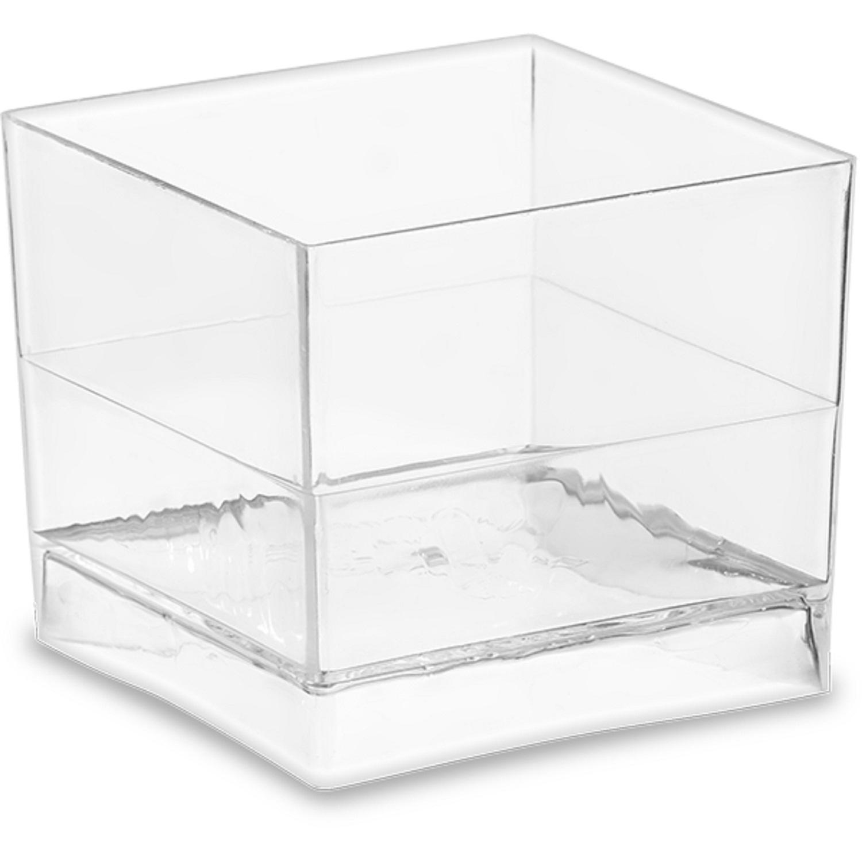 Мини-сервиз чашка Куб PS 60мл 4,7х4,7х4,0см 15шт/уп
