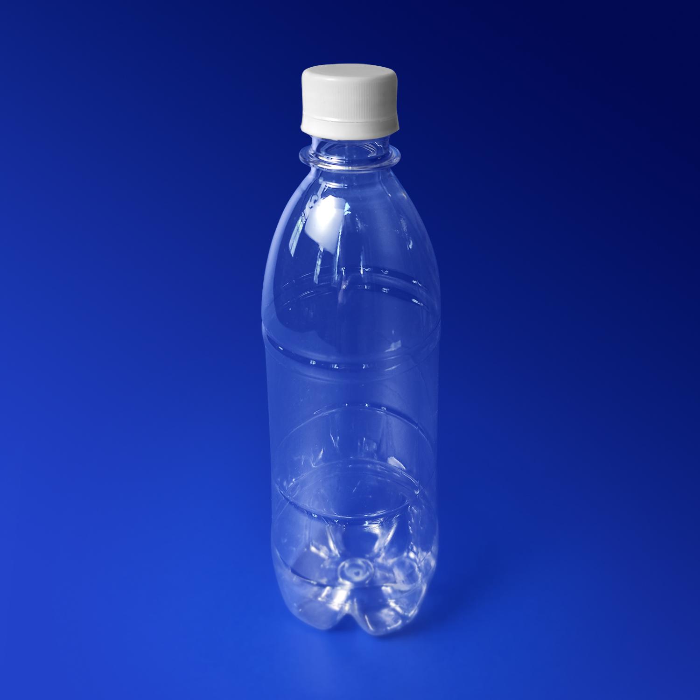 Бутылка  500мл PET прозрачная с крышкой диаметр горловины 2,8см h22,0см диаметр дна 6,0см