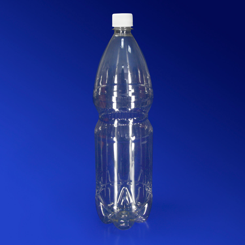 Бутылка 1500  мл PET  прозрачная с крышкой диаметр горловины 2,8см h31,0см диаметр дна 8,0см