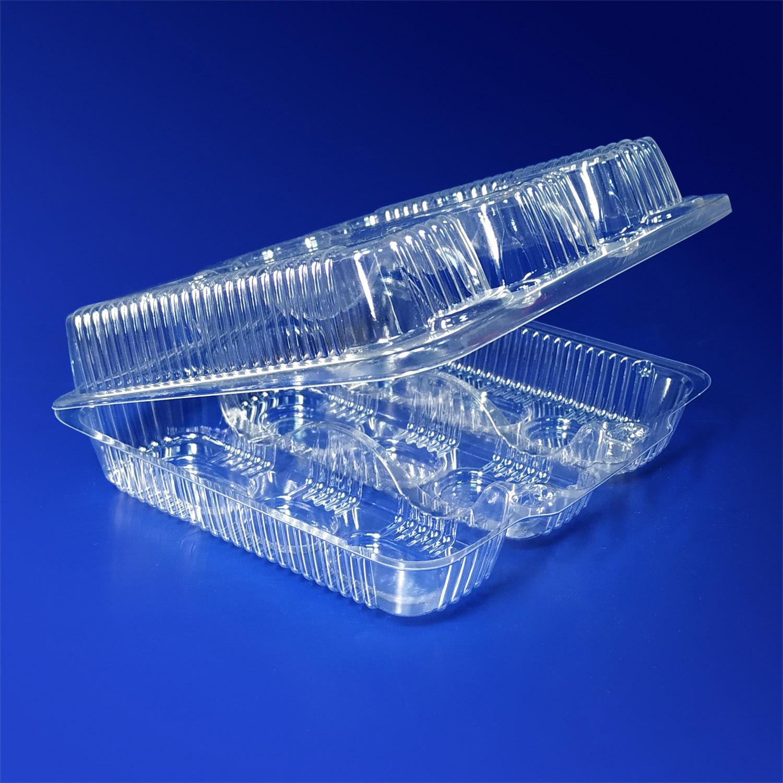 Контейнер пластиковый на  3 секции 1000мл PS прозрачный с нераздельной крышкой 16х15х5см 320 штук в коробке