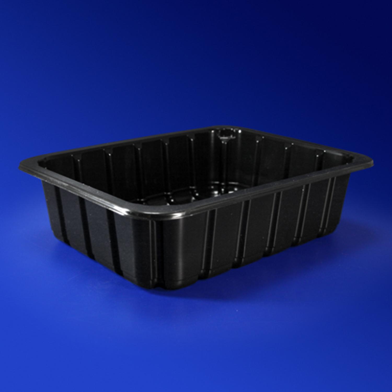 Лоток под запайку 22,7х17,8х6,0см 1800 мл PP черный  310 штук в коробке