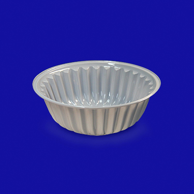 Креманка-тарелка d10,4х3,2см 150мл PET бел  100шт/уп Sp