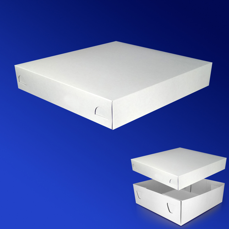 Крышка к пицца-коробке 25х25х5см бел 200шт/уп