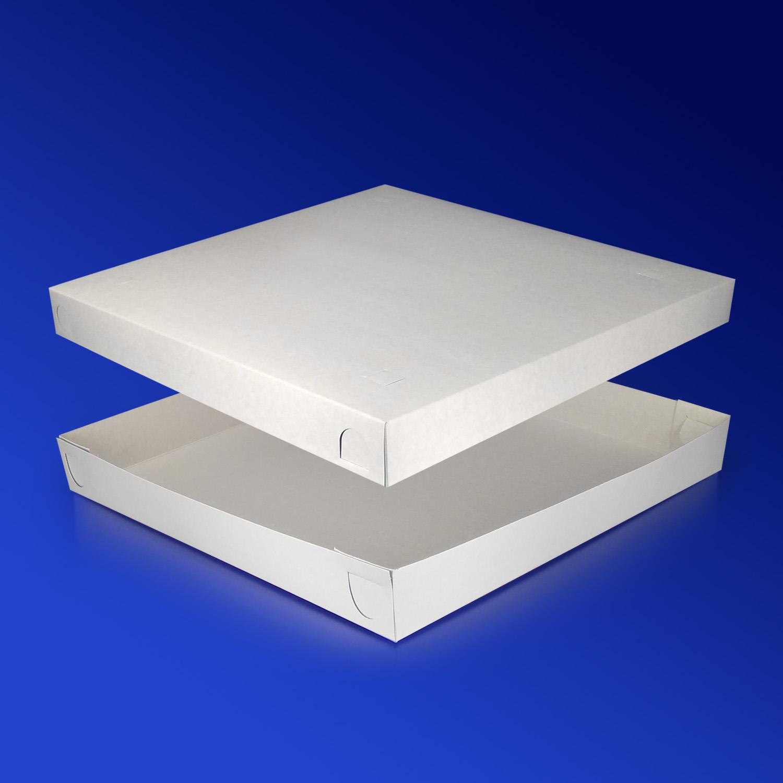 Пицца-коробка 33х33х4см бел 200шт/уп