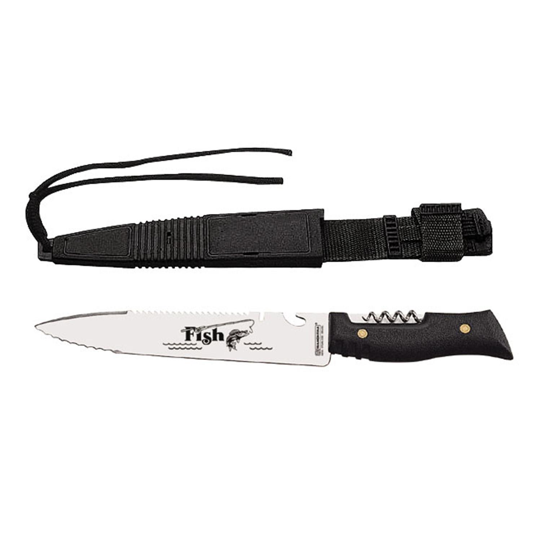 Нож туристический нескладной рыбацкий 34,5см Fish