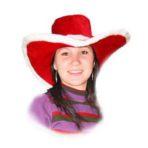 Наряд Декорация Шляпа новогодняя 45см