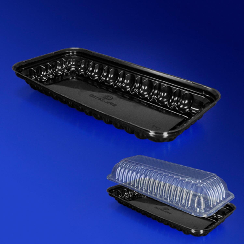 Дно к упаковке для пирожного черное 24,0х12,0х6,2см