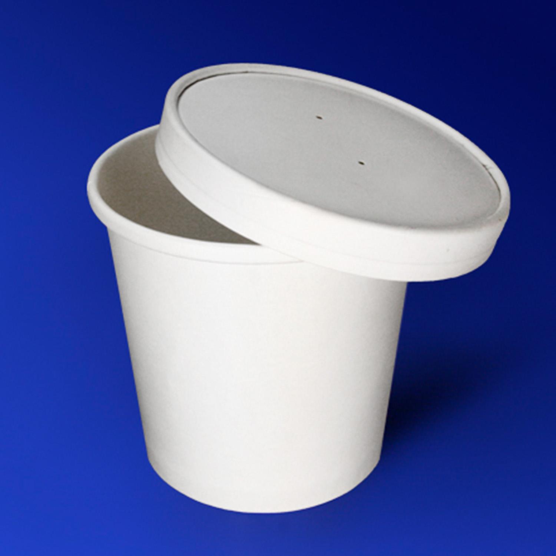 Супница белая/ламинир d7 5см h10см 470мл с крышкой Eco