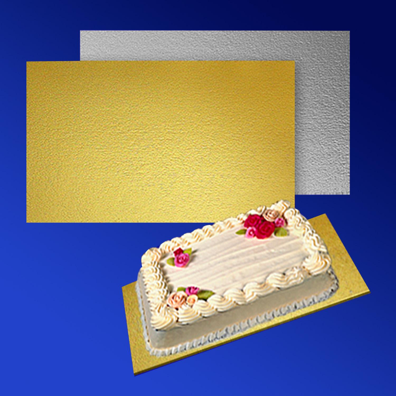 Подставка п/торт  40х60см золотистая/серебристая